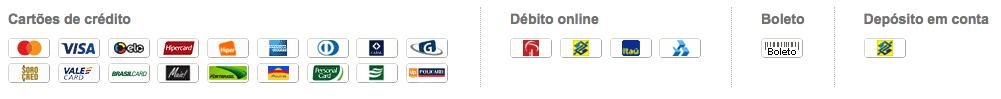 Lista de tipos de pagamento da conta BurnMana da PagSeguro