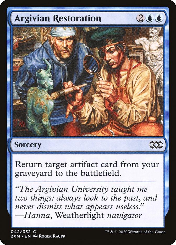 Carta /Argivian Restoration de Magic the Gathering