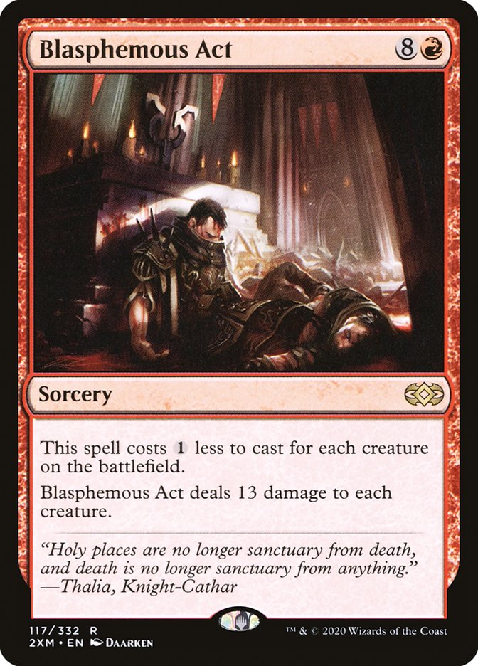 Carta /Blasphemous Act de Magic the Gathering