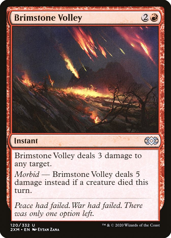 Carta /Brimstone Volley de Magic the Gathering