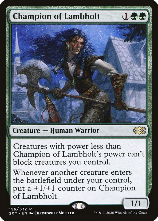 Carta /Champion of Lambholt de Magic the Gathering