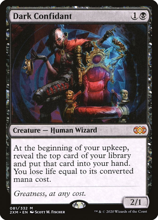 Carta /Dark Confidant de Magic the Gathering