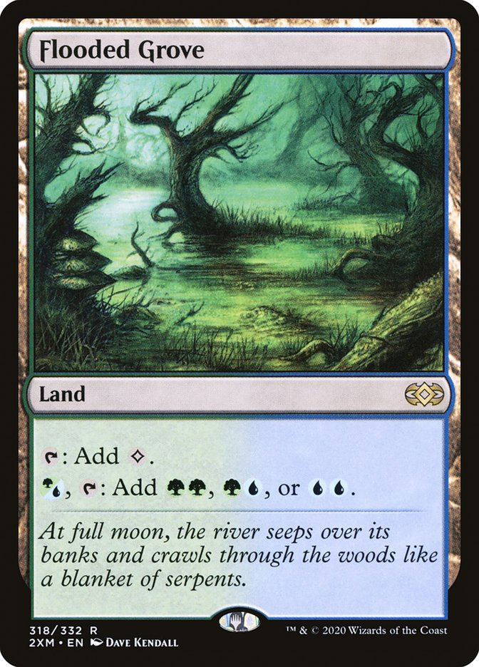 Carta /Flooded Grove de Magic the Gathering