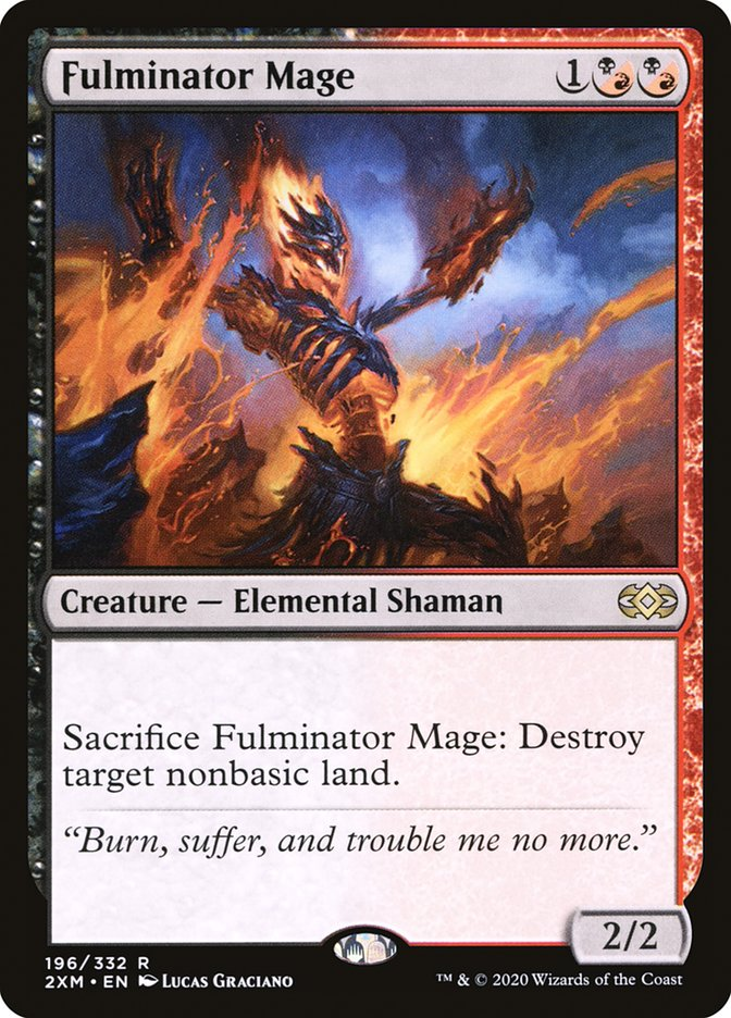 Carta /Fulminator Mage de Magic the Gathering