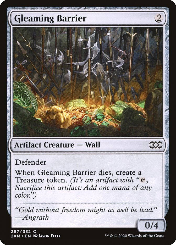 Carta /Gleaming Barrier de Magic the Gathering