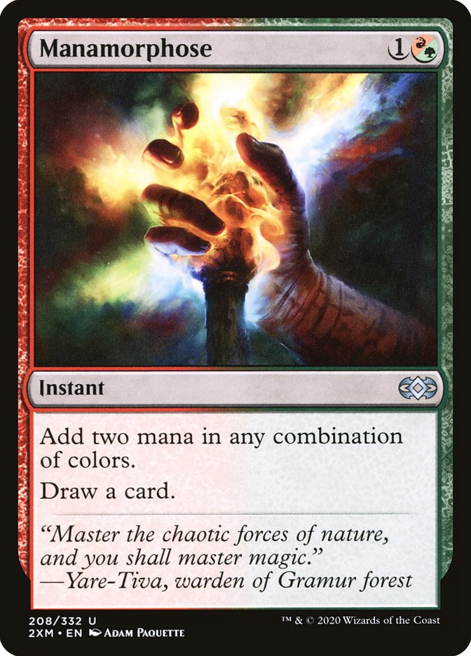 Carta /Manamorphose de Magic the Gathering