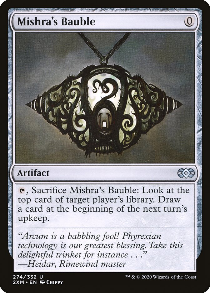Carta /Mishra's Bauble de Magic the Gathering