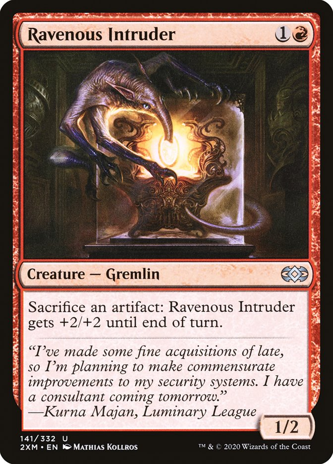 Carta /Ravenous Intruder de Magic the Gathering