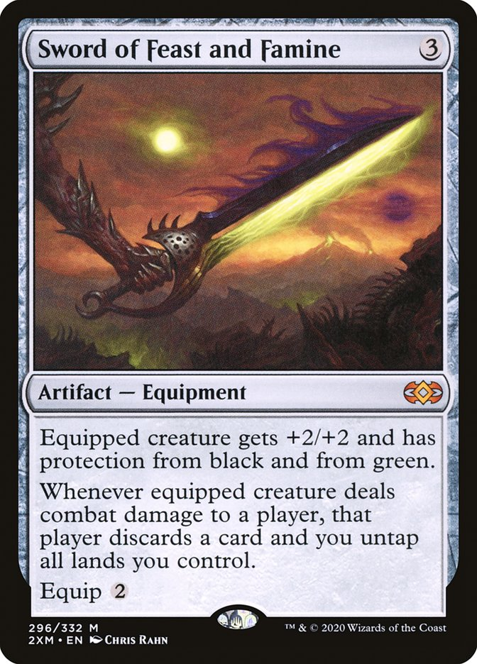 Carta /Sword of Feast and Famine de Magic the Gathering