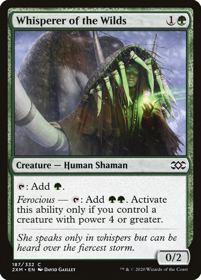 Carta /Whisperer of the Wilds de Magic the Gathering