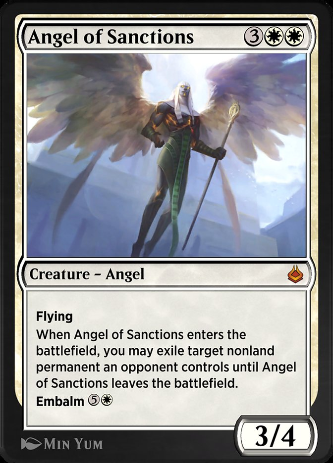 Carta /Angel of Sanctions de Magic the Gathering
