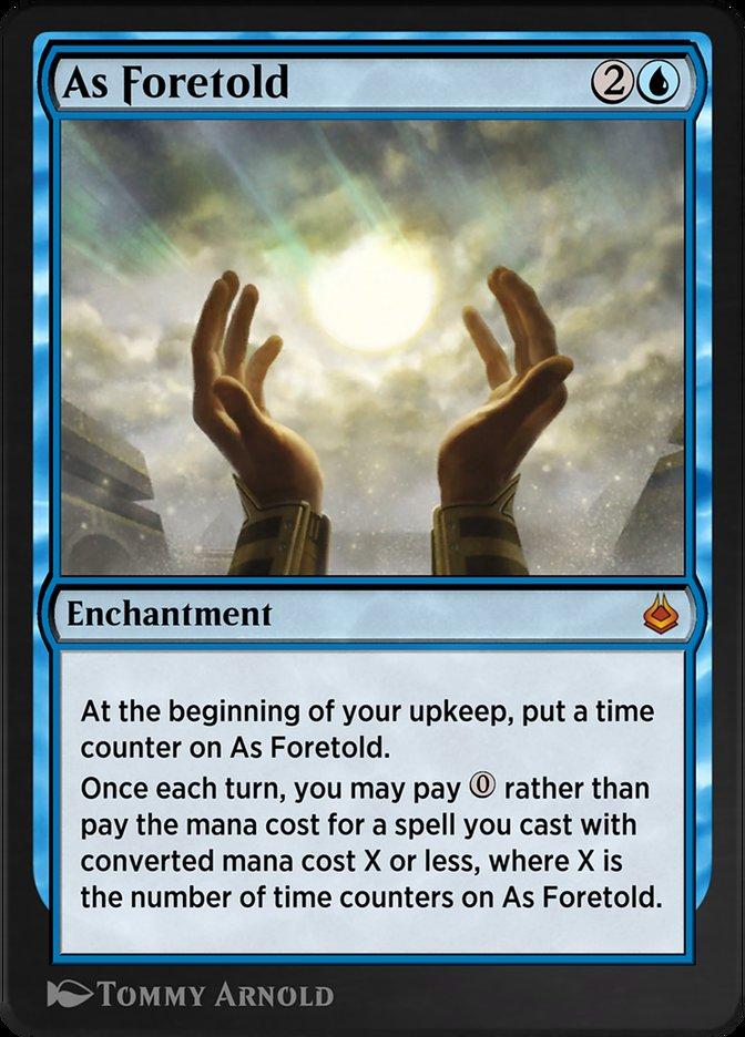 Carta /As Foretold de Magic the Gathering