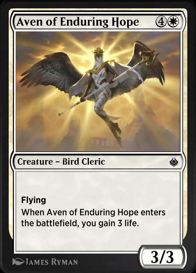 Carta /Aven of Enduring Hope de Magic the Gathering