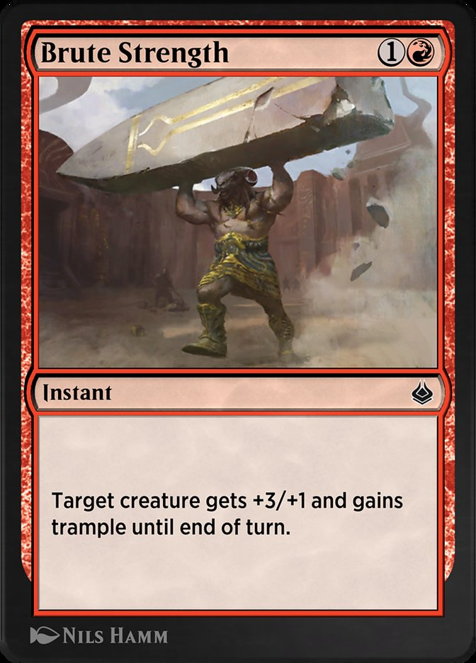 Carta /Brute Strength de Magic the Gathering