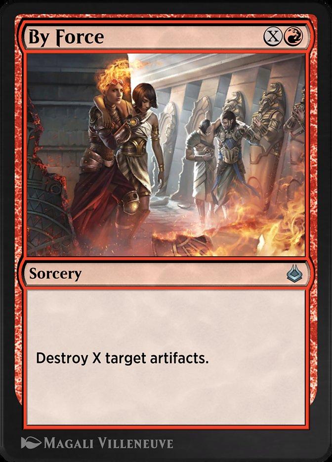 Carta /By Force de Magic the Gathering