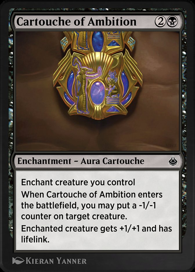 Carta /Cartouche of Ambition de Magic the Gathering
