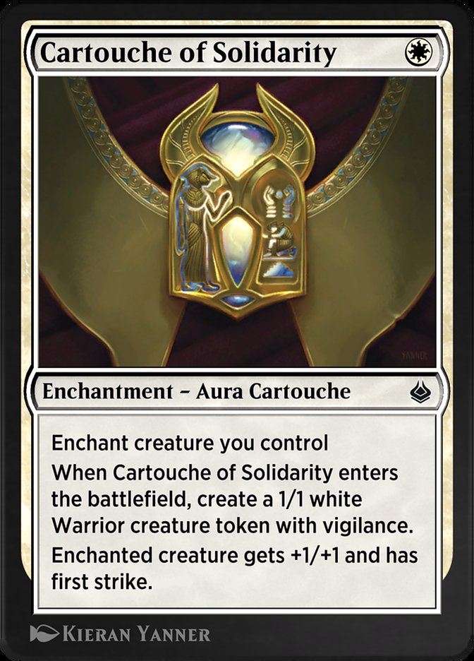 Carta /Cartouche of Solidarity de Magic the Gathering