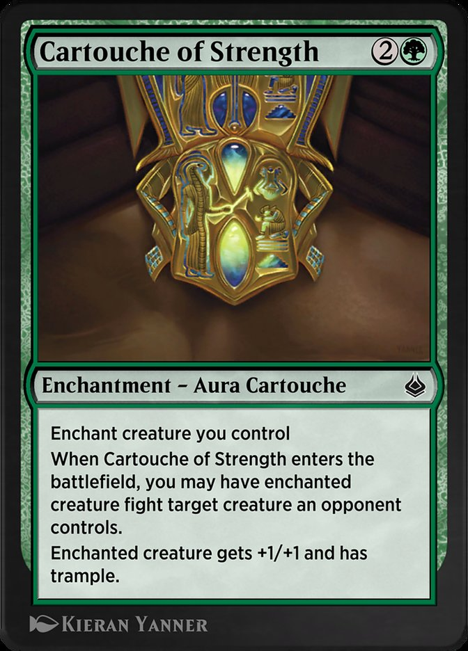 Carta /Cartouche of Strength de Magic the Gathering