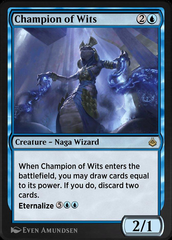 Carta /Champion of Wits de Magic the Gathering