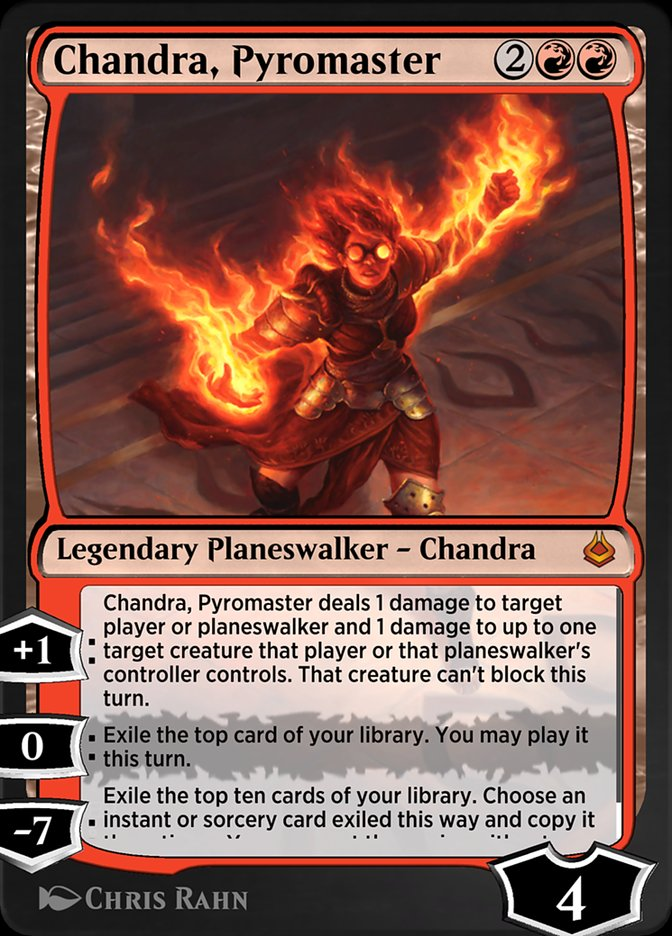 Carta /Chandra, Pyromaster de Magic the Gathering