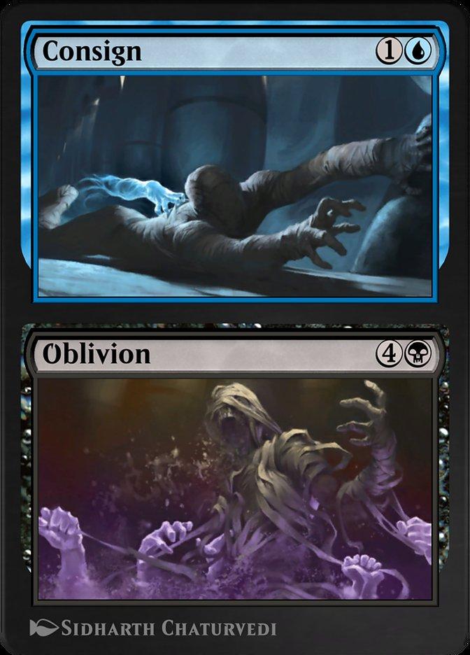 Carta /Consign // Oblivion de Magic the Gathering