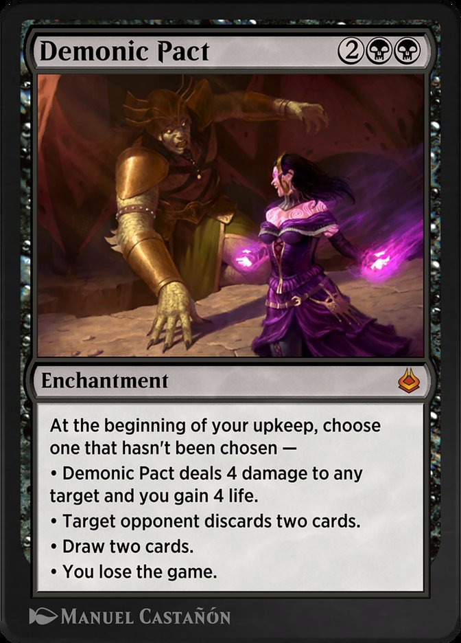 Carta /Demonic Pact de Magic the Gathering