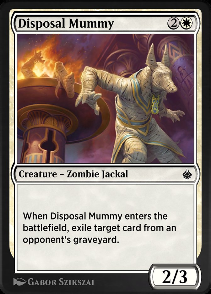Carta /Disposal Mummy de Magic the Gathering