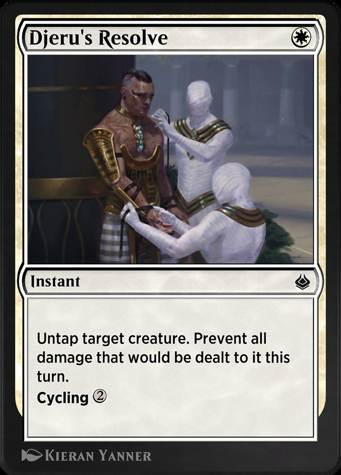 Carta /Djeru's Resolve de Magic the Gathering