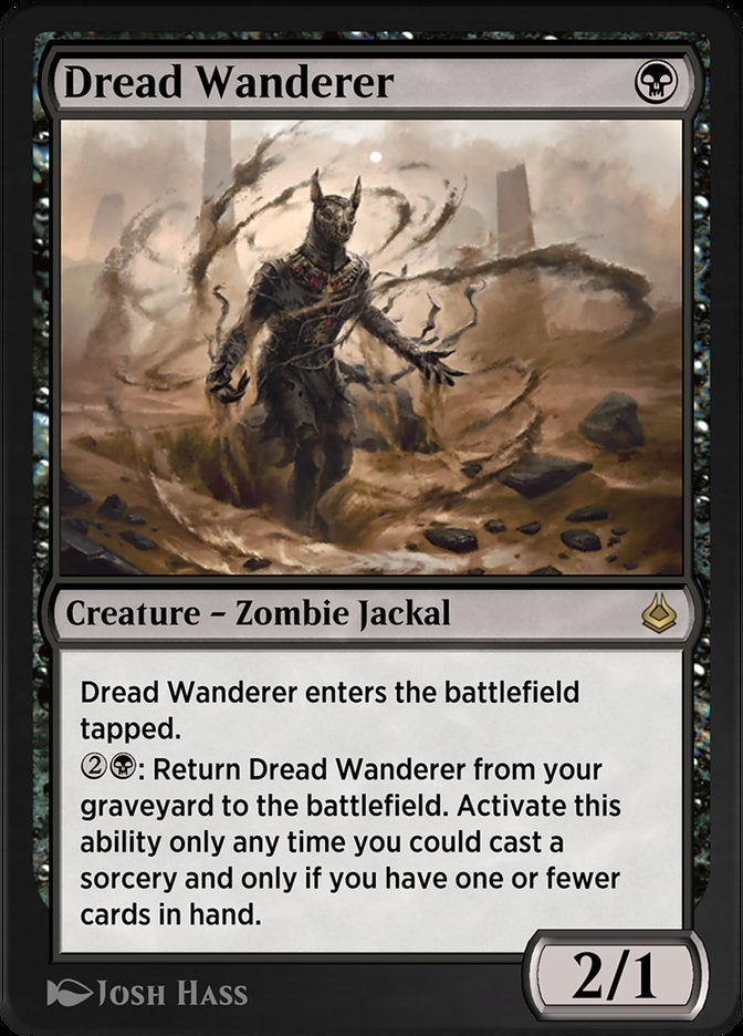 Carta /Dread Wanderer de Magic the Gathering