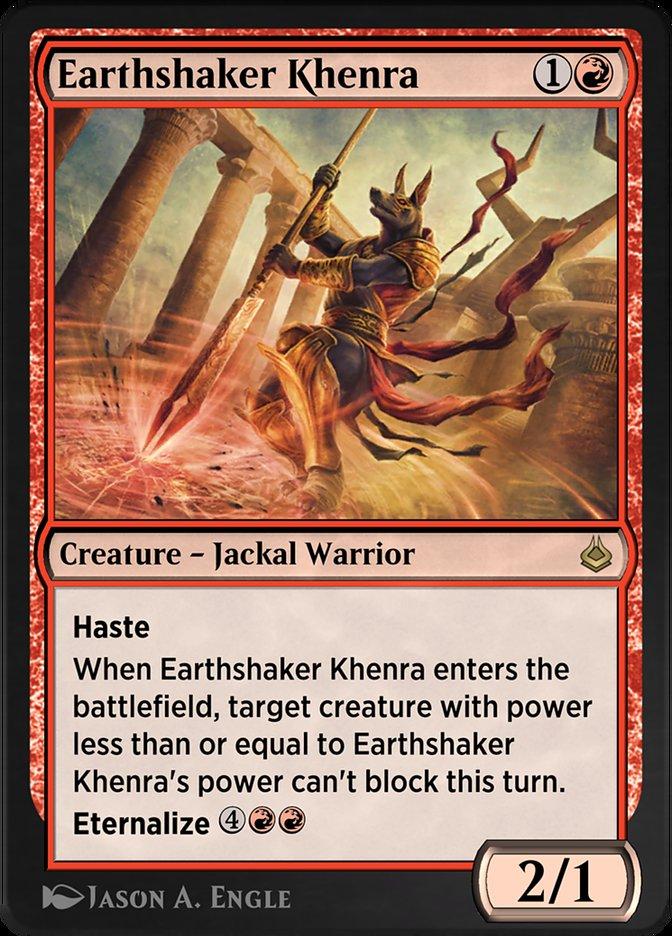 Carta /Earthshaker Khenra de Magic the Gathering