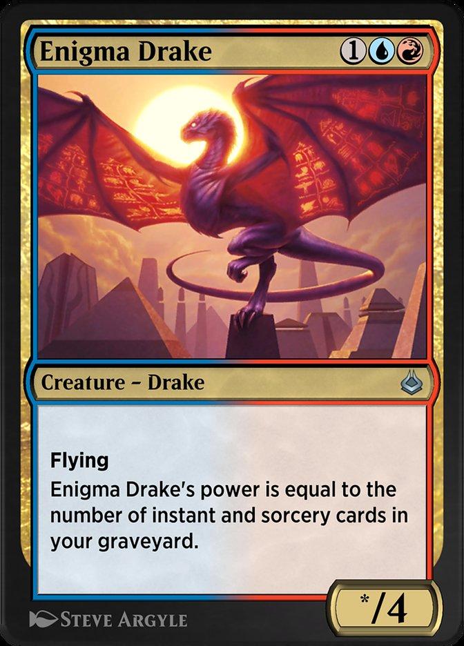 Carta /Enigma Drake de Magic the Gathering