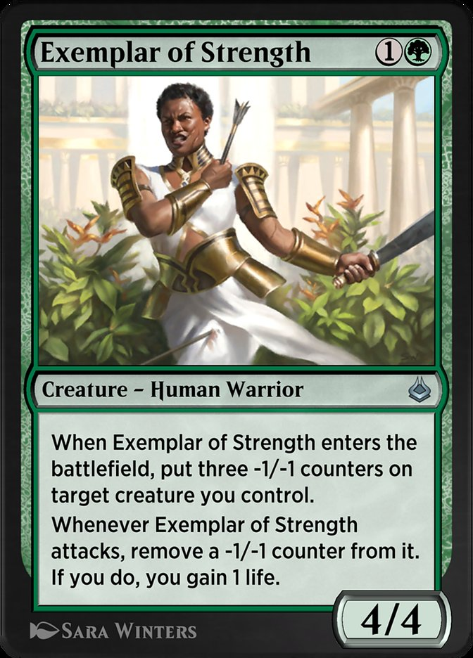 Carta /Exemplar of Strength de Magic the Gathering