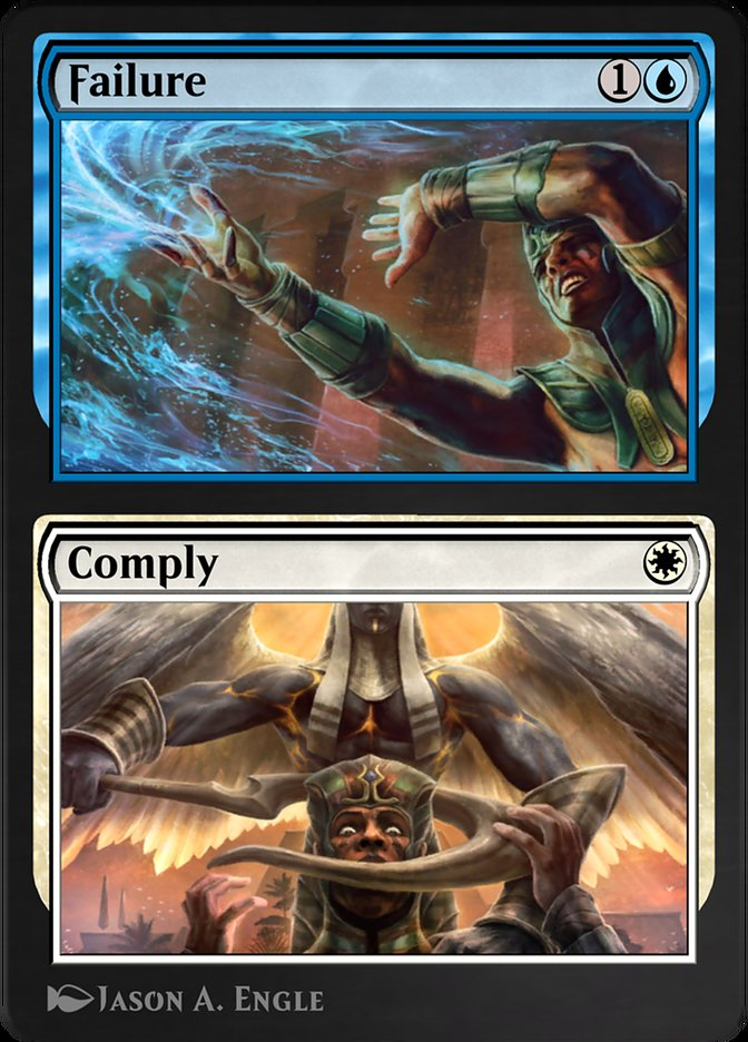 Carta /Failure // Comply de Magic the Gathering