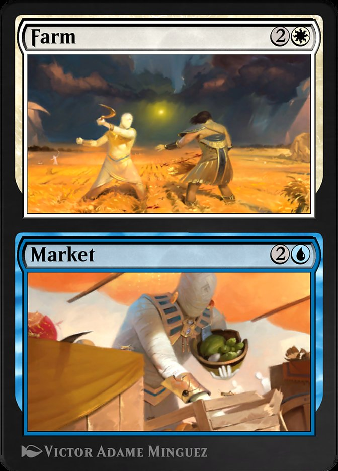 Carta /Farm // Market de Magic the Gathering
