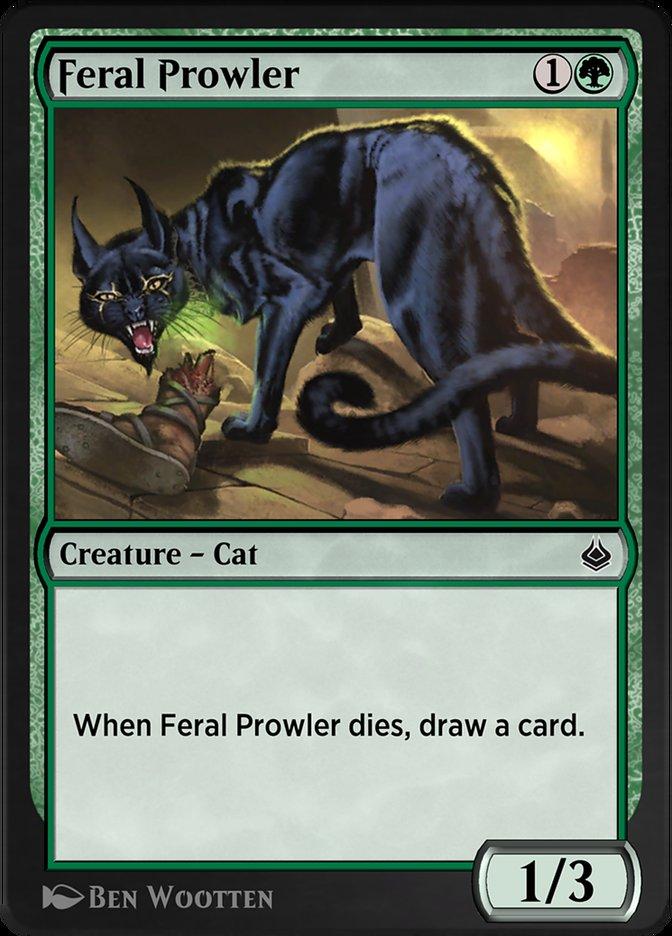 Carta /Feral Prowler de Magic the Gathering