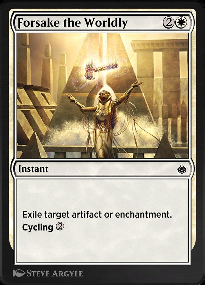 Carta /Forsake the Worldly de Magic the Gathering
