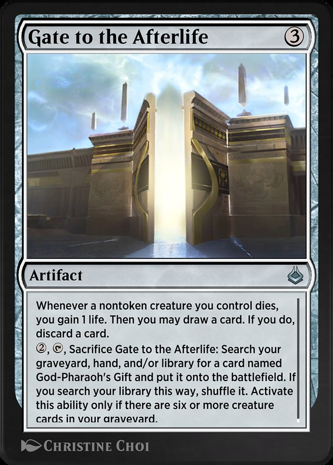 Carta /Gate to the Afterlife de Magic the Gathering