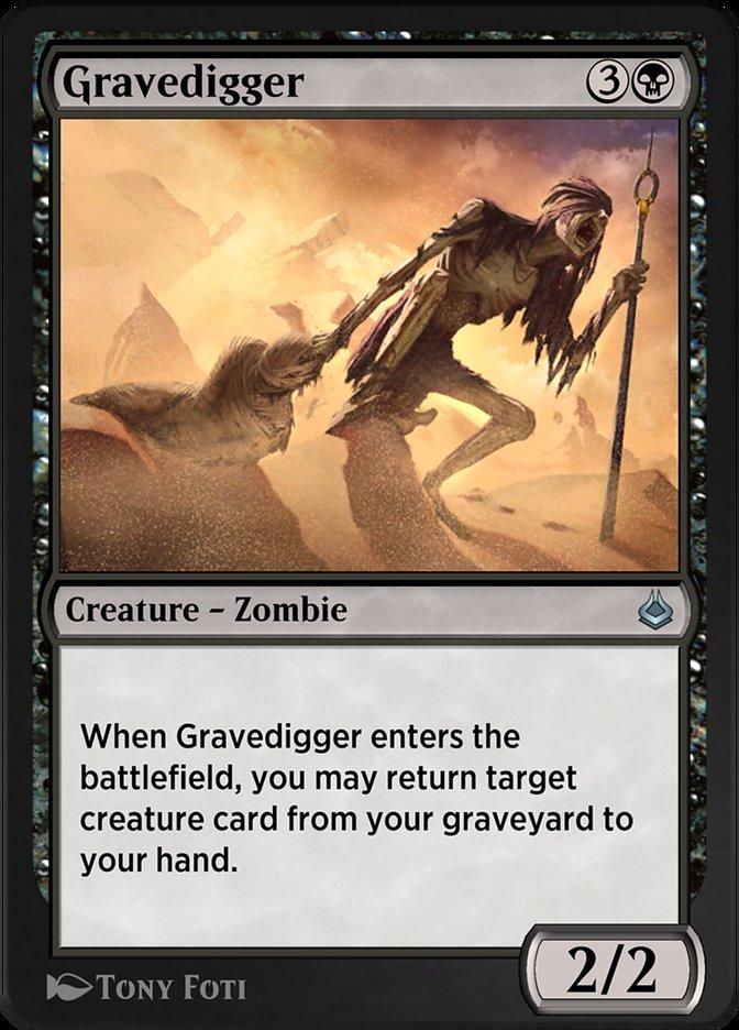 Carta /Gravedigger de Magic the Gathering