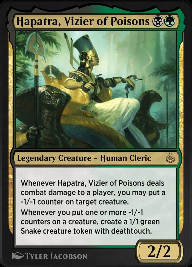 Carta /Hapatra, Vizier of Poisons de Magic the Gathering
