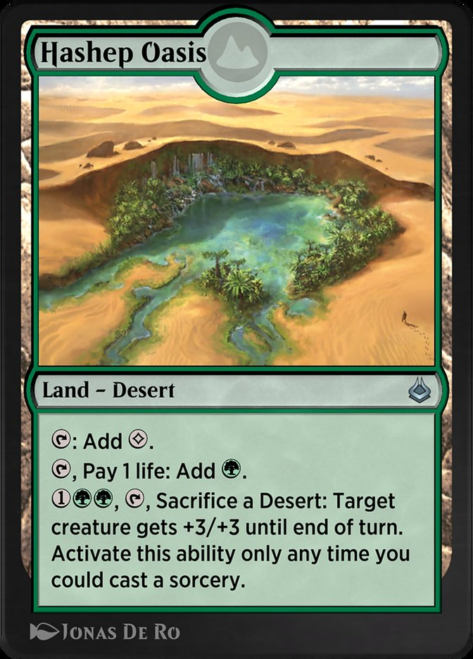 Carta /Hashep Oasis de Magic the Gathering