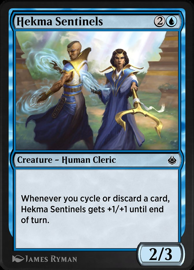 Carta /Hekma Sentinels de Magic the Gathering