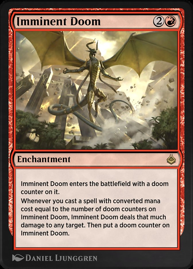 Carta /Imminent Doom de Magic the Gathering
