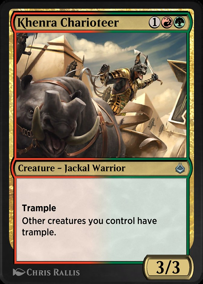 Carta /Khenra Charioteer de Magic the Gathering