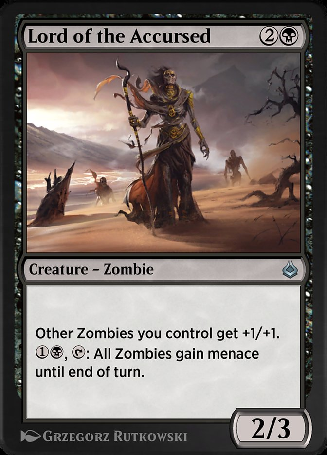 Carta /Lord of the Accursed de Magic the Gathering