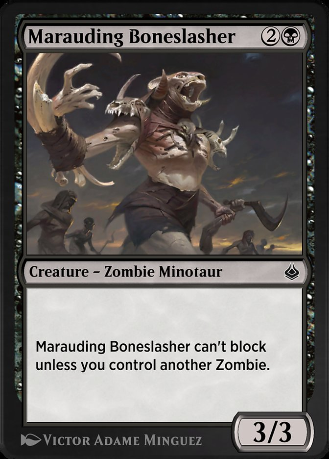 Carta /Marauding Boneslasher de Magic the Gathering