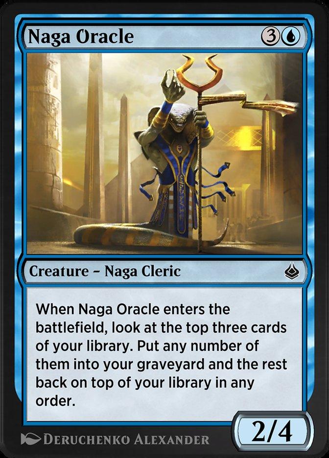 Carta /Naga Oracle de Magic the Gathering