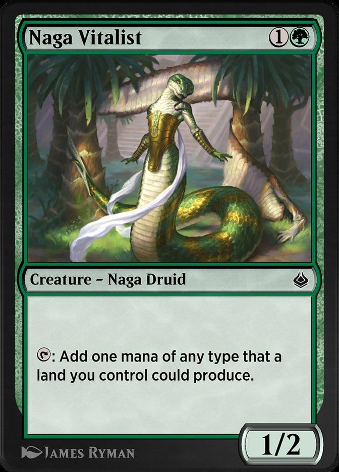 Carta /Naga Vitalist de Magic the Gathering