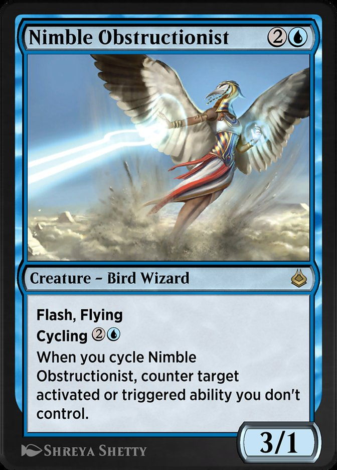 Carta /Nimble Obstructionist de Magic the Gathering