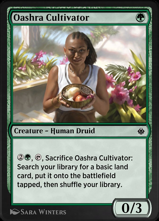 Carta /Oashra Cultivator de Magic the Gathering