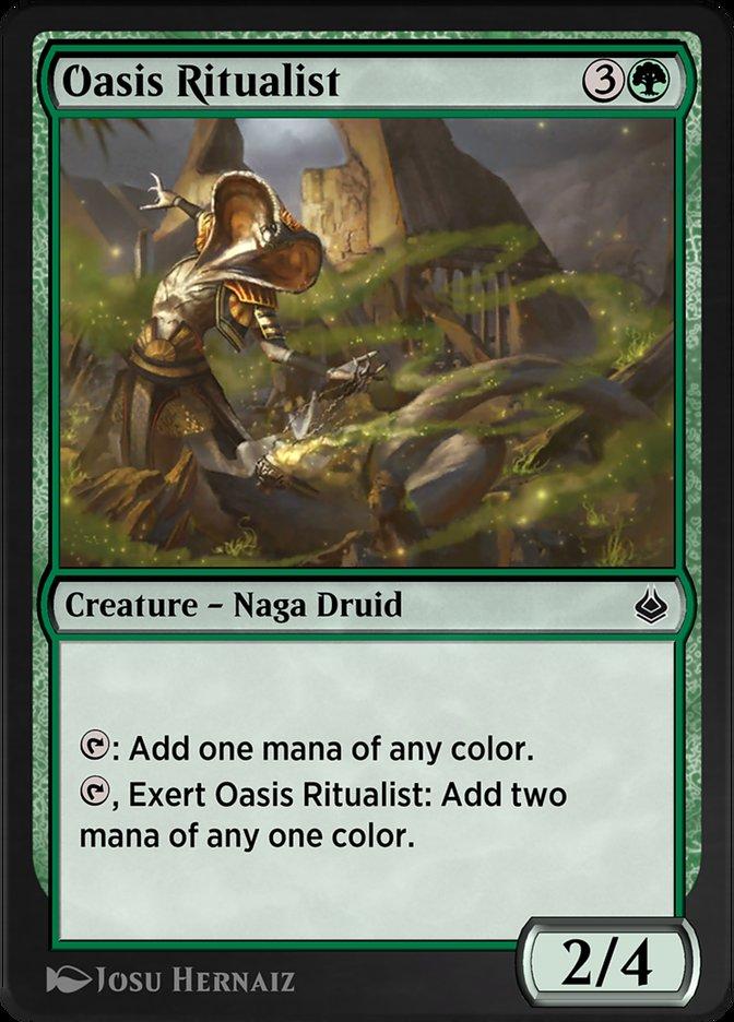Carta /Oasis Ritualist de Magic the Gathering